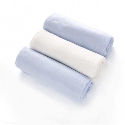 Newborn Bamboo Swaddle 3 Pack  31''x31'', Muslin Blankets Solid Color, Soft Swaddling Wrap,Baby Muslin Cloth Diapers