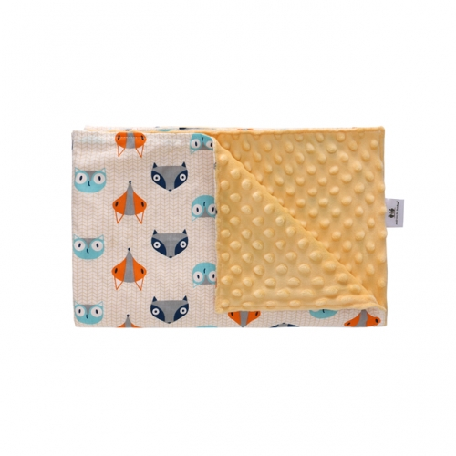 "Minky Dot Swaddle Blanket with Double Layer, Super Soft Plush Receiving Blankets, Perfect Baby Shower Gift, 30""x40""(Animals)"