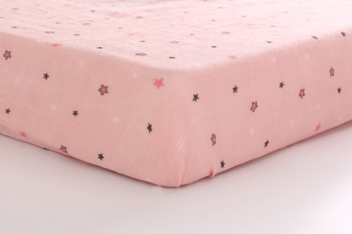 "Lat Crib Sheet for Standard Crib Cotton Muslin Toddler Nursery Bedding Mattress Pad Cover 52"" x 28""x 8''"