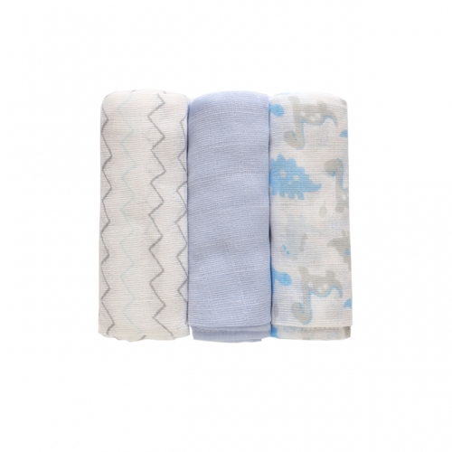 Miracle Baby Swaddle Muslin Blankets 3 Pack  28''x 28', 100% Cotton Absorbent Washable Diapers,